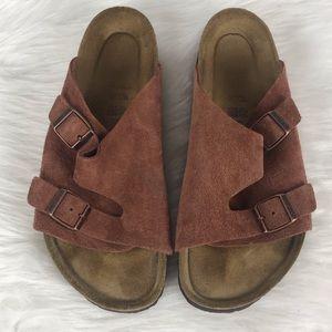 Birkenstock suede double strap sandals | size 41